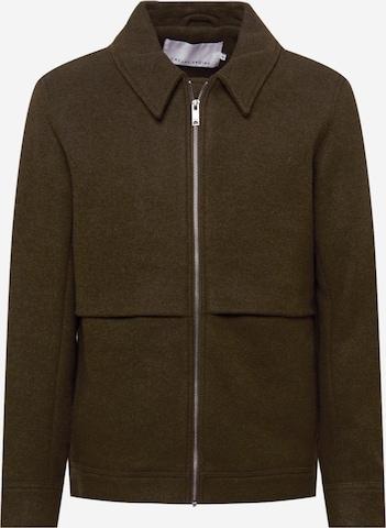 Casual Friday Between-Season Jacket 'Oconner wool outerwear' in Brown