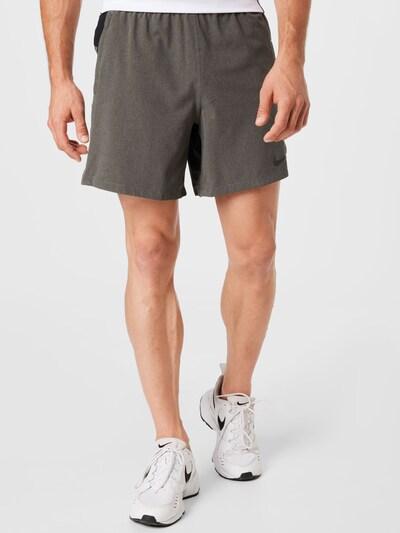 NIKE Športové nohavice - kamenná / čierna, Model/-ka