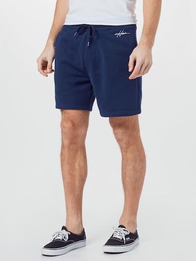 HOLLISTER Hlače u mornarsko plava / bijela, Prikaz modela