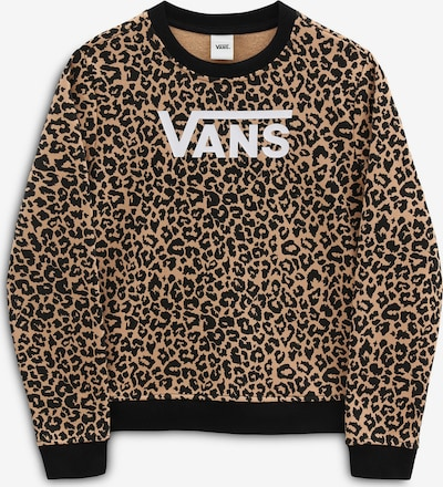 VANS Sweatshirt 'GR LEOPARD CREW' in de kleur Bruin / Zwart / Wit, Productweergave