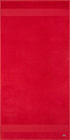 LACOSTE Shower Towel 'LE CROCO' in Red
