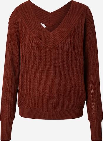 ONLY Sweter 'Melton' w kolorze brązowy