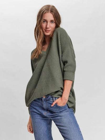 VERO MODA Pullover 'Leanna' in dunkelgrün, Modelansicht
