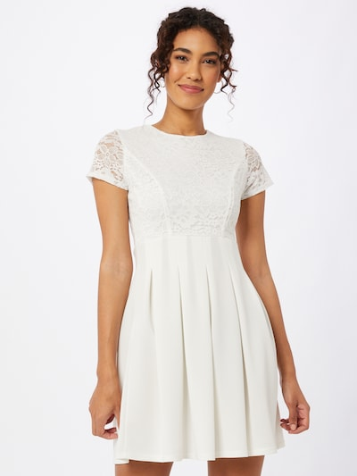 WAL G. Koktejl obleka | bela barva, Prikaz modela