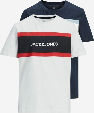 Jack & Jones Junior T-Shirt in dunkelblau / rot / schwarz / weiß, Produktansicht