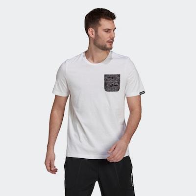 adidas Terrex T-Shirt in schwarz / weiß: Frontalansicht