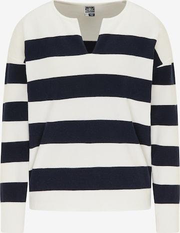 DreiMaster Maritim Pullover in Weiß