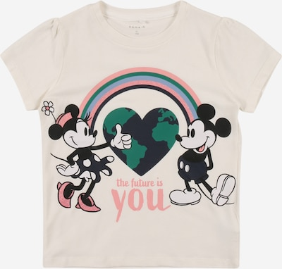 NAME IT Shirt 'MINNIE NENNE' in grün / rosa / schwarz / weiß, Produktansicht