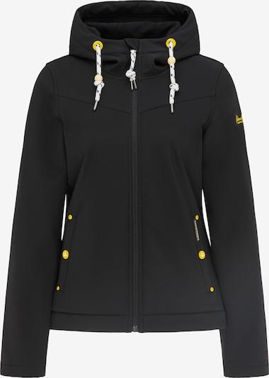 Schmuddelwedda Functionele jas in de kleur Donkergeel / Zwart / Wit, Productweergave