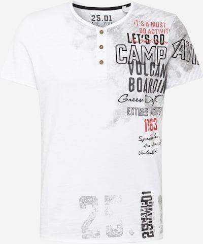 CAMP DAVID Shirt in grau / rot / weiß, Produktansicht
