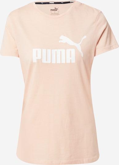 PUMA Funktionsshirt 'Essentials Heather' in pfirsich / weiß, Produktansicht