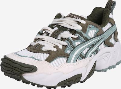 ASICS SportStyle Sneakers laag 'GEL-NANDI' in de kleur Crème / Kaki / Mintgroen: Vooraanzicht