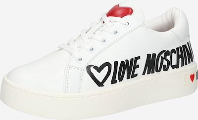 Love Moschino Σνίκερ χαμηλό σε κόκκινο / μαύρο / λευκό, Άποψη προϊόντος