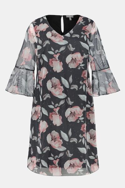 Ulla Popken Kleid in grau / rosa, Produktansicht