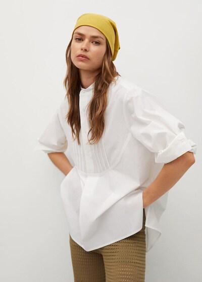MANGO Bluse in weißmeliert, Modelansicht