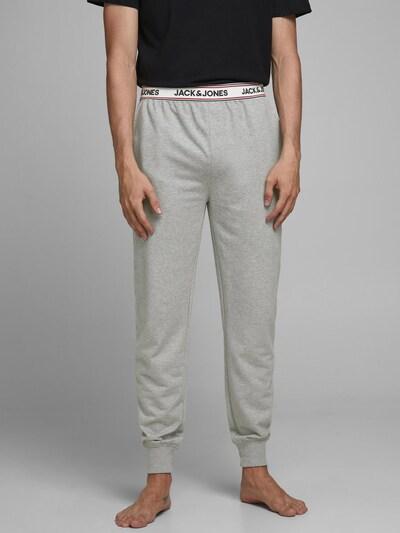 JACK & JONES Pyjamabroek in de kleur Grijs / Wit, Modelweergave
