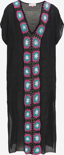 IZIA Zomerjurk in de kleur Turquoise / Pink / Zwart, Productweergave