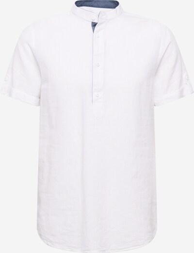 INDICODE JEANS Košulja 'Mao' u plavi traper / prljavo bijela, Pregled proizvoda