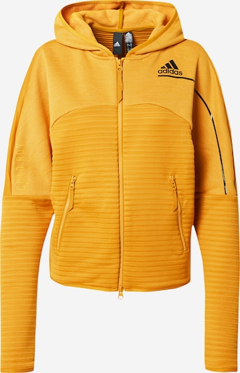 ADIDAS PERFORMANCE Sweatjacke 'Z.N.E.' in senf: Frontalansicht