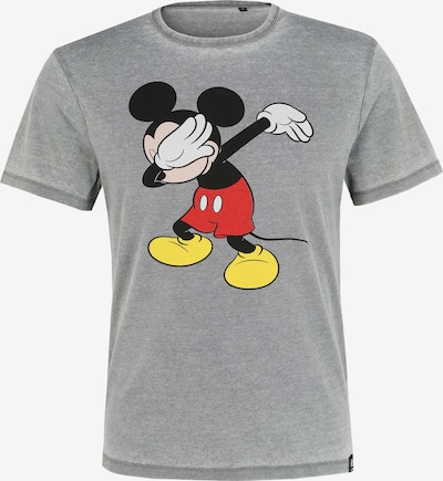 Recovered T-Shirt en jaune / gris chiné / rouge / noir / blanc, Vue avec produit
