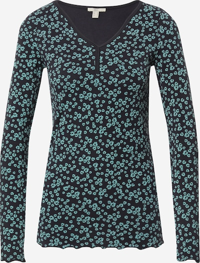 EDC BY ESPRIT Shirt in jade / schwarz, Produktansicht
