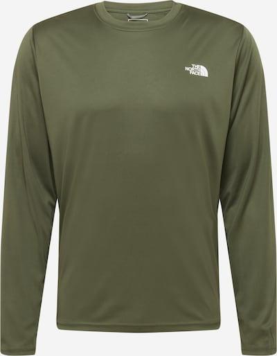 THE NORTH FACE Sportshirt 'Reaxion Amp' in khaki / weiß, Produktansicht