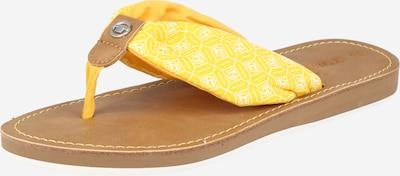 TOM TAILOR Zehentrenner in gelb / weiß, Produktansicht
