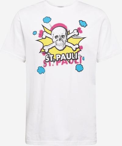 Tricou 'Totenkopf Pow Pow' FC St. Pauli pe galben / alb, Vizualizare produs