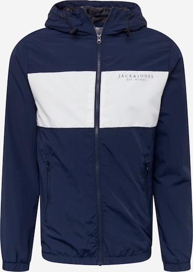 JACK & JONES Veste mi-saison en bleu marine / blanc, Vue avec produit