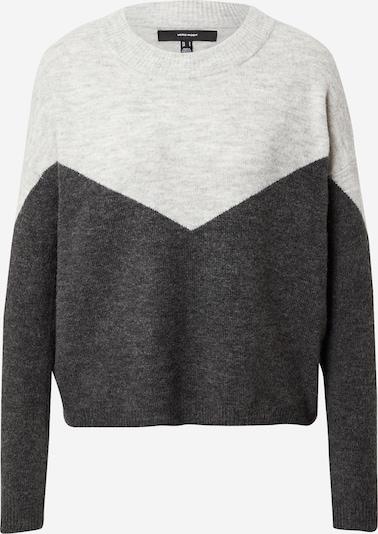 VERO MODA Pullover 'NEWRANA' i mørkegrå / grå-meleret, Produktvisning