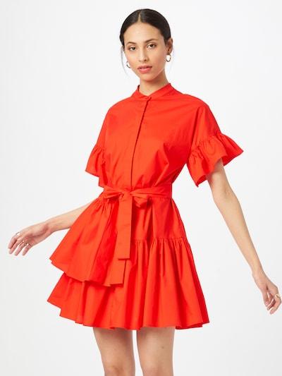 Twinset Рокля тип риза в неоново оранжево, Преглед на модела