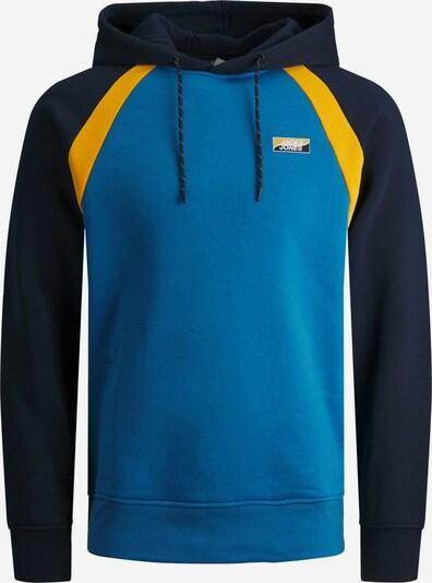 JACK & JONES Sweatshirt in de kleur Navy / Royal blue/koningsblauw / Geel: Vooraanzicht