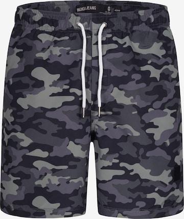 Shorts de bain INDICODE JEANS en gris