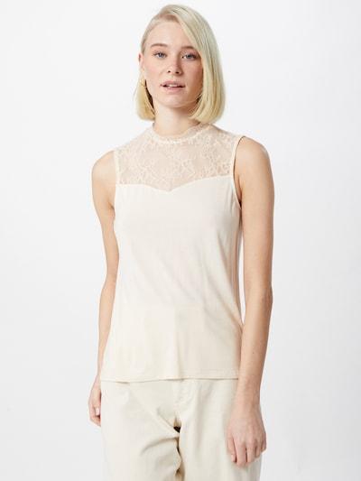 PIECES Bluzka 'PINA' w kolorze beżowym, Podgląd na modelu(-ce)