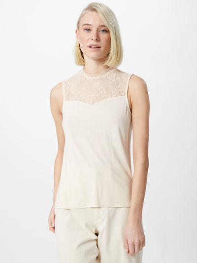 PIECES Bluse 'PINA' i beige, Modelvisning
