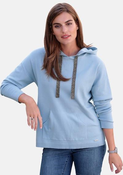 Emilia Lay Kapuzen-Pullover in blau / hellblau: Frontalansicht