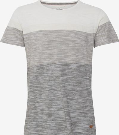 BLEND T-Shirt Jakob in graumeliert / weiß, Produktansicht