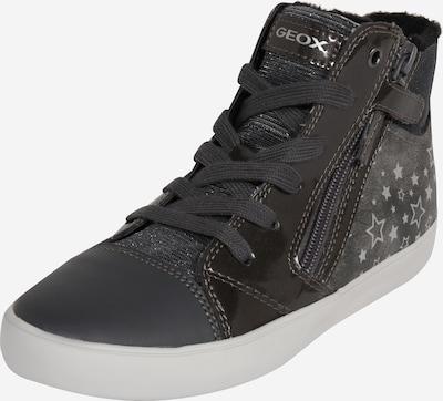 GEOX Kids Sneaker in dunkelgrau / silber, Produktansicht