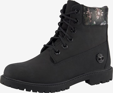 TIMBERLAND Lace-Up Ankle Boots in Black