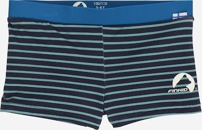 FINKID Shorts de bain 'UINTI' en bleu nuit / bleu ciel / vert pastel / blanc, Vue avec produit
