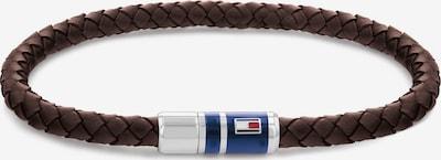 TOMMY HILFIGER Bransoletka w kolorze granatowy / ciemnobrązowy / czerwony / srebrnym, Podgląd produktu