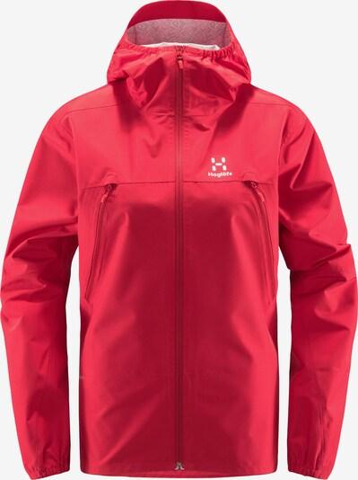 Haglöfs Outdoorjas 'Spira' in de kleur Rood / Wit, Productweergave