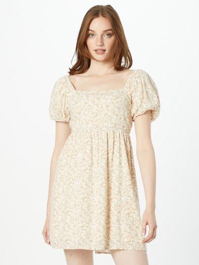 American Eagle Kleid en crème / blanc, Vue avec modèle