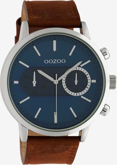OOZOO Uhr in braun / silber, Produktansicht