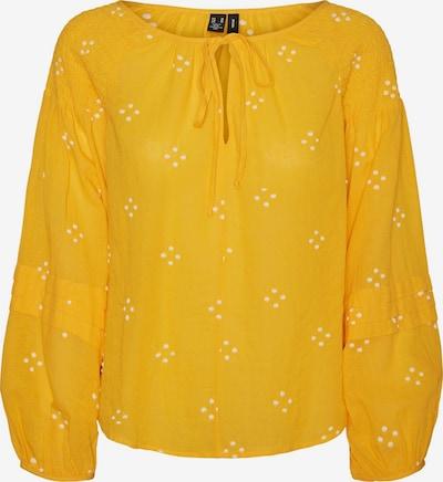 VERO MODA Bluse 'Asta' in safran / weiß, Produktansicht