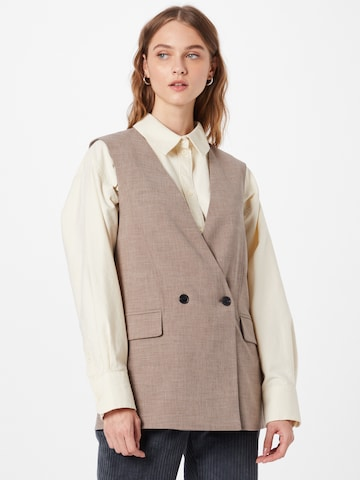 SOAKED IN LUXURY Dressvest 'Navya' i brun