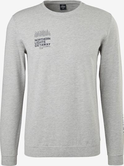 s.Oliver Sweater majica u siva melange / crna, Pregled proizvoda