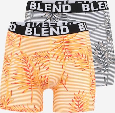 BLEND Boxerky - grafitová / stříbrně šedá / svítivě oranžová / jasně oranžová / bílá, Produkt
