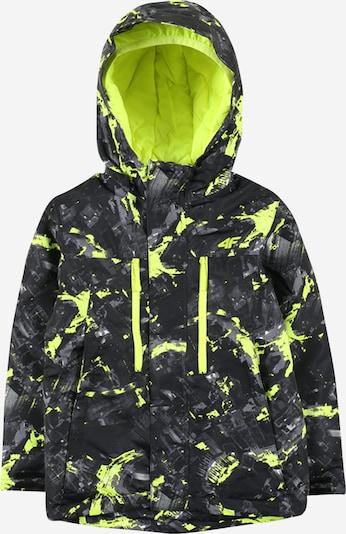 4F Outdoorová bunda - tmavosivá / limetová / čierna, Produkt