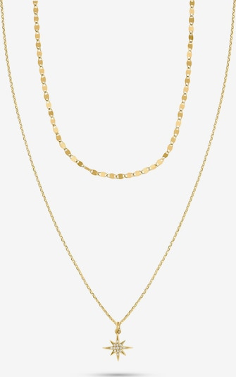 QOOQI Kette aus Sterling Silber 925er Silber in goldgelb / silber, Produktansicht